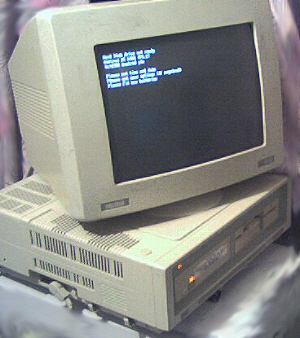 Amstrad PC1640 Running